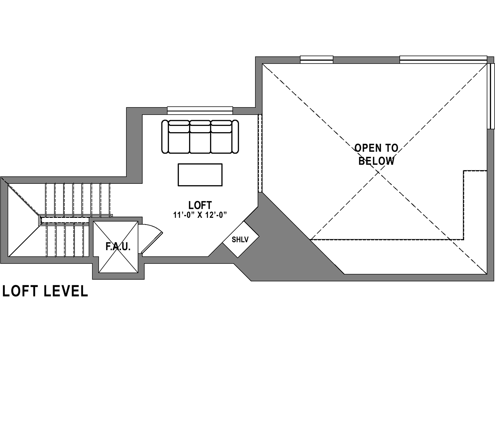Plan C1 Loft - 3 Bedroom+ Loft, 2 Bath Floor Plan