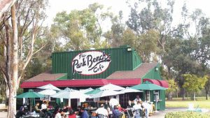 Park Bench Cafe is perfect because it is located in the middle of a dog park.